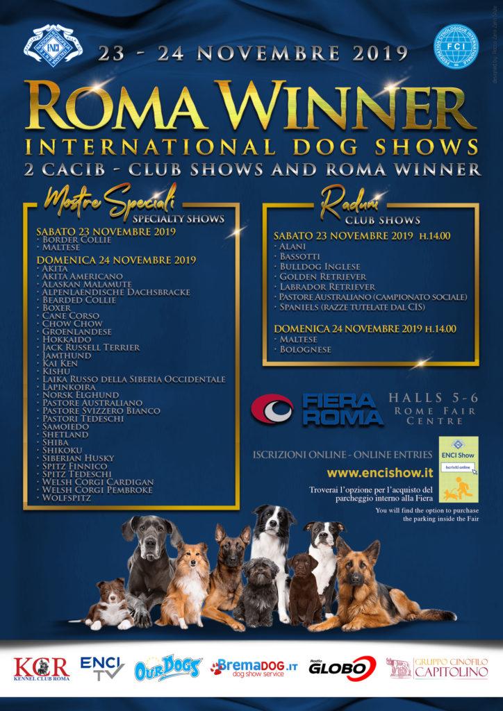 Enci Calendario Prove.Kennel Club Roma Associazione Cinofila Romana Riconosciuta