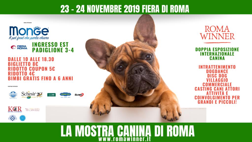 Mostra Canina di Roma 23-24 Novembre 2019